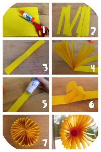 fleurs en papier   Paper flowers diy, Spring crafts for kids, Diy arts, crafts