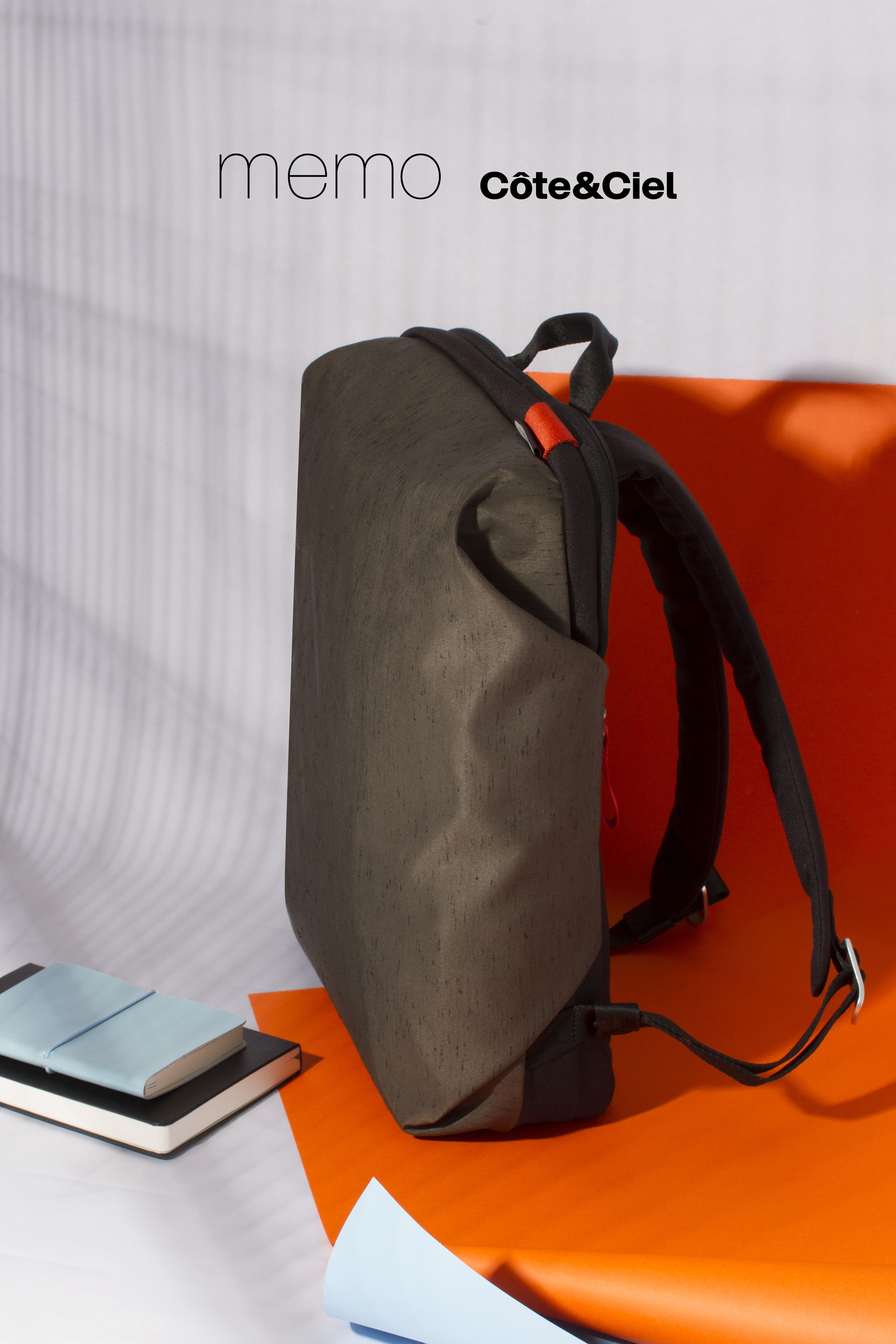 ceee4eb9b3 Deep Forest Green Zephyr Backpack - The memo Côte Ciel is a completely new  minimalist diffusion line focused on lightweight functionality.