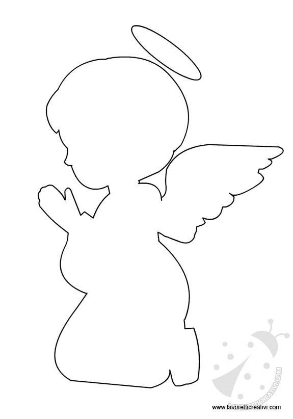 Angelo immagini pinterest sagome decorazioni di for Disegni di angeli da colorare per bambini