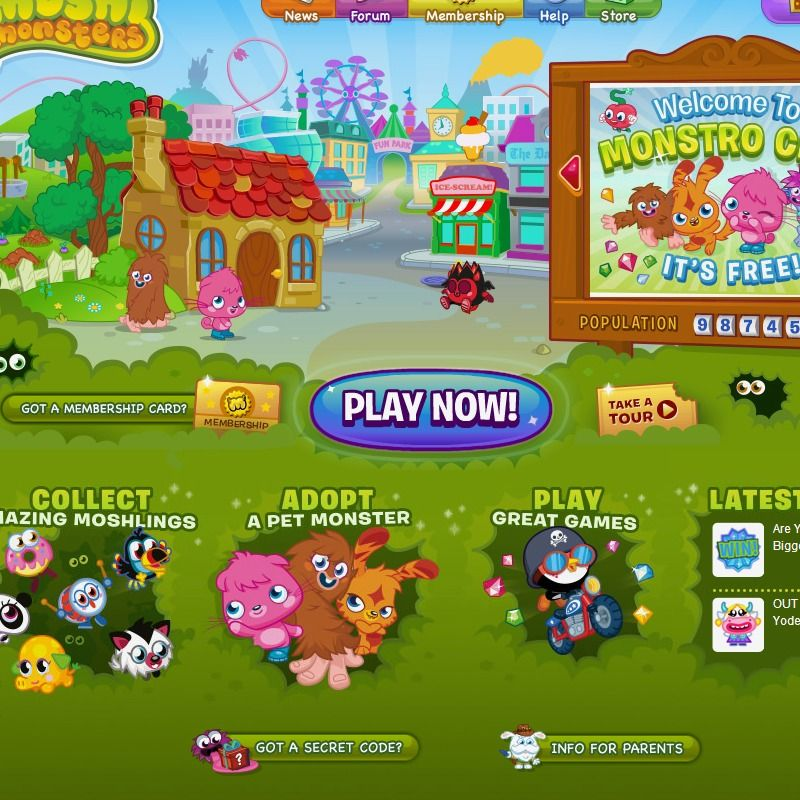 Adopt your own pet monster and join the Moshi fun! Moshi
