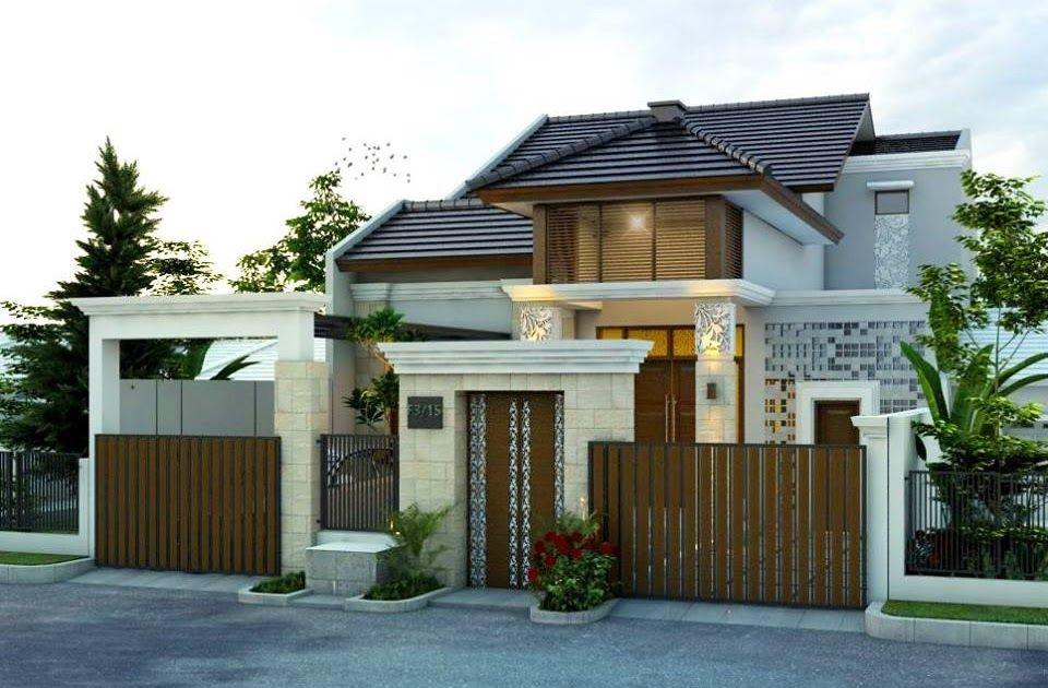 Desain Rumah Minimalis Situs Properti Indonesia Gaya Desain Rumah Bali Elegan Gambar 1 Desain Rumah Desain Rumah Bali Membangun Rumah Rumah Batu Minimalis