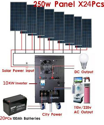 Find Many Great New Used Options And Get The Best Deals For New 10kw Solar Power Generator System For 110v 220v Solar Heating Solar Power Diy Power Generator
