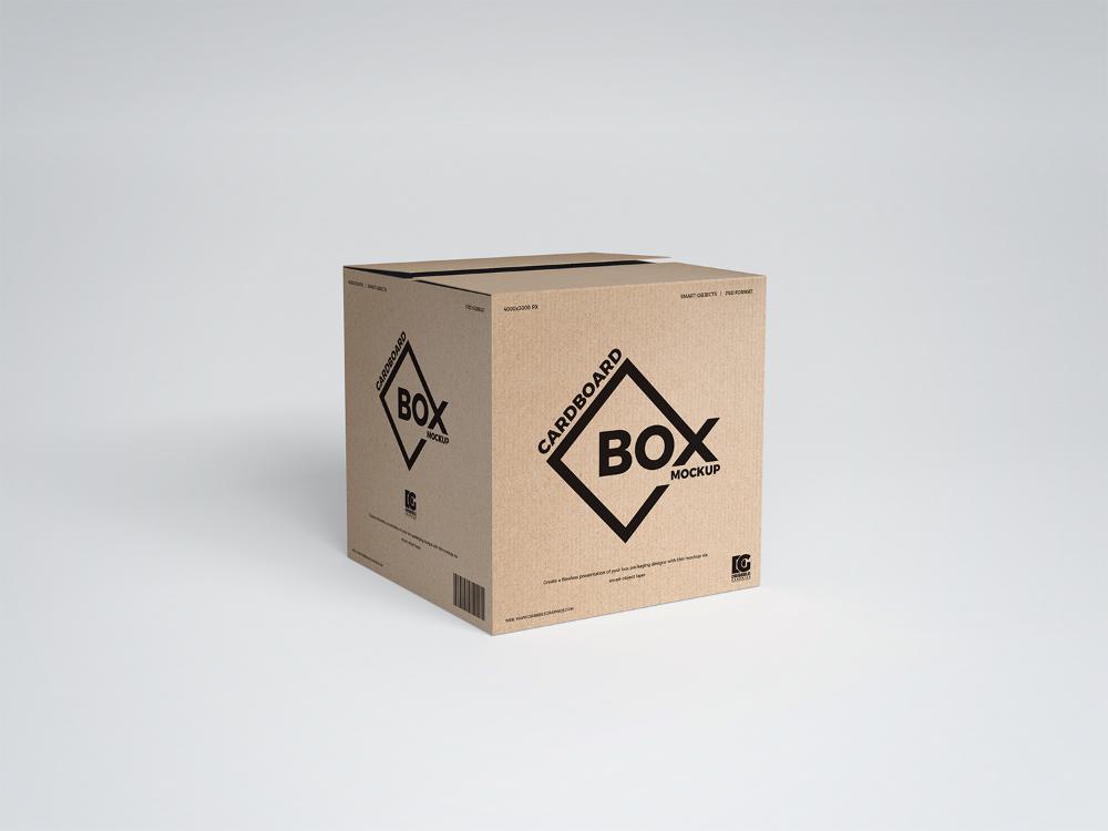 Download Free Psd Square Cardboard Box Mockup Design Free Mockup Design Mockup Free Box Mockup Mockup Free Psd