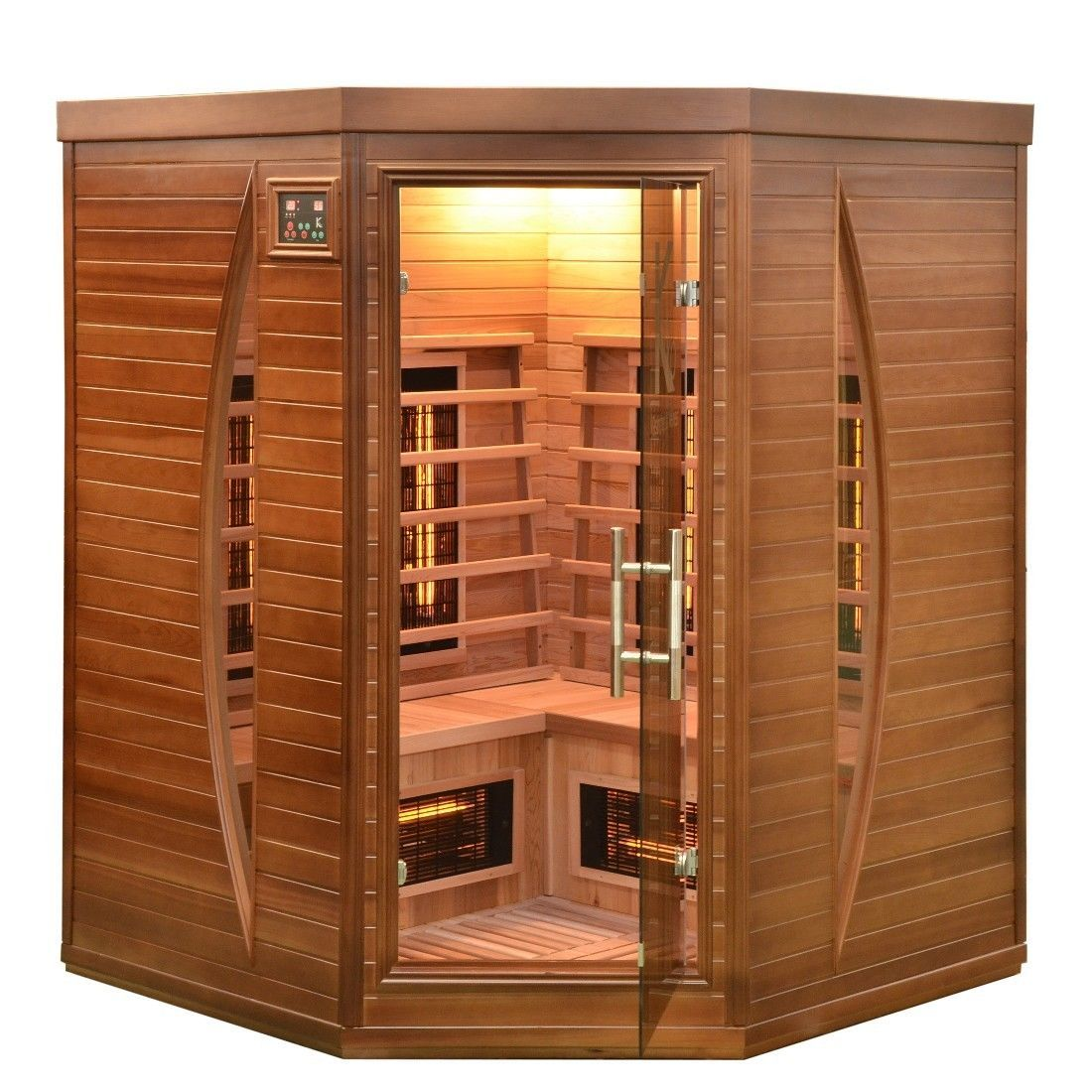 sauna infrarotkabine infrarot w rmekabine infrarotsauna zeder zedernholz neu ebay coole. Black Bedroom Furniture Sets. Home Design Ideas