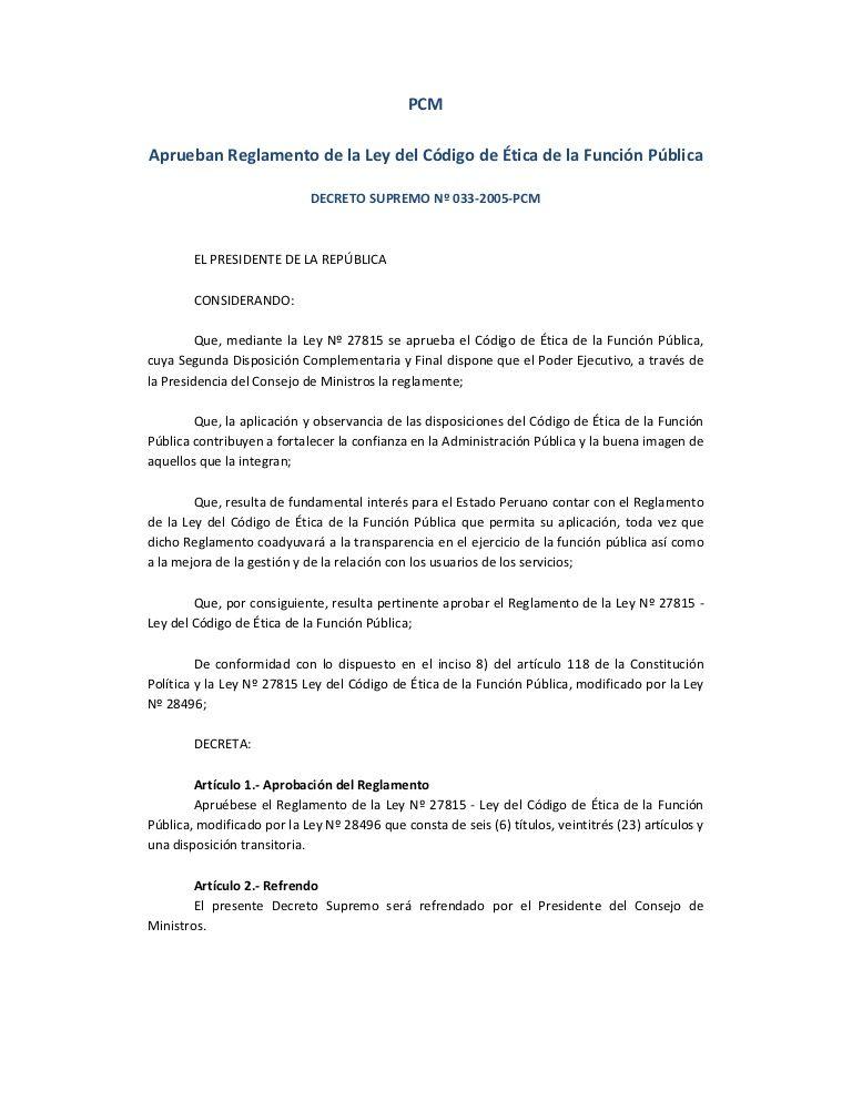 reglamento-ley-codigoetica by  Esther Segovia  via Slideshare