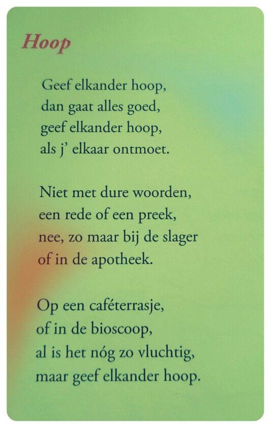 Gedicht Hoop Toon Hermans Gedichten Tekst Citaten En
