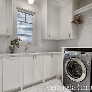 veranda interiors laundry mud rooms white cabinets white laundry room cabinets gray and. Black Bedroom Furniture Sets. Home Design Ideas