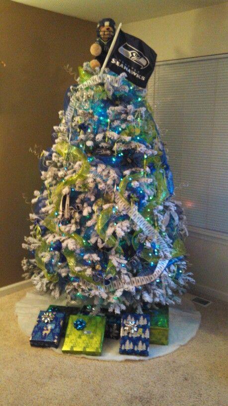 Seahawks Christmas Tree.Our Seattle Seahawks Tree Love My Seahawks Seahawks