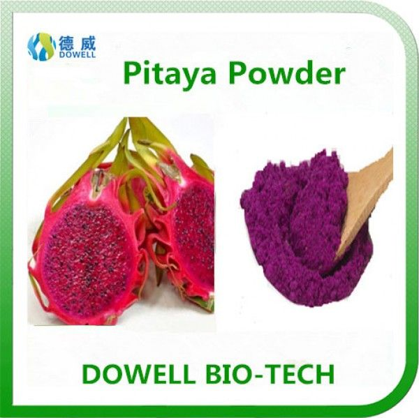 Pitaya Powder - Dowell Bio-Tech focus on producing 100% pure natural fruit and vegetable powders by the advanced manufacturering technology. All the raw materials comply with organic standards, contains variety of vitamins and acids; With pure flavor, good taste, super water solubility, can be widely used in pharmaceutical and health care products, health food, infant food, beverage, dairy products, sport drinks and other fields.