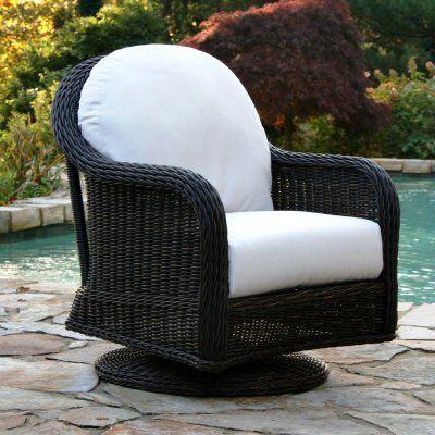 Anacara Mariner All Weather Wicker Swivel Glider Lounge Chair