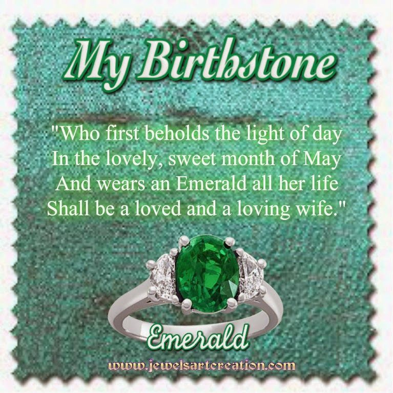 May Birthstone Poem Jewels Art Creation...this suits my
