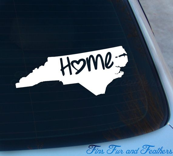 North carolina decal state decal home decal nc sticker love laptop