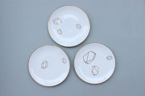 SECOND LIFE OF PLATES / small set of 3