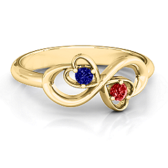 Duo of Hearts and Stones Infinity Ring #jewlr