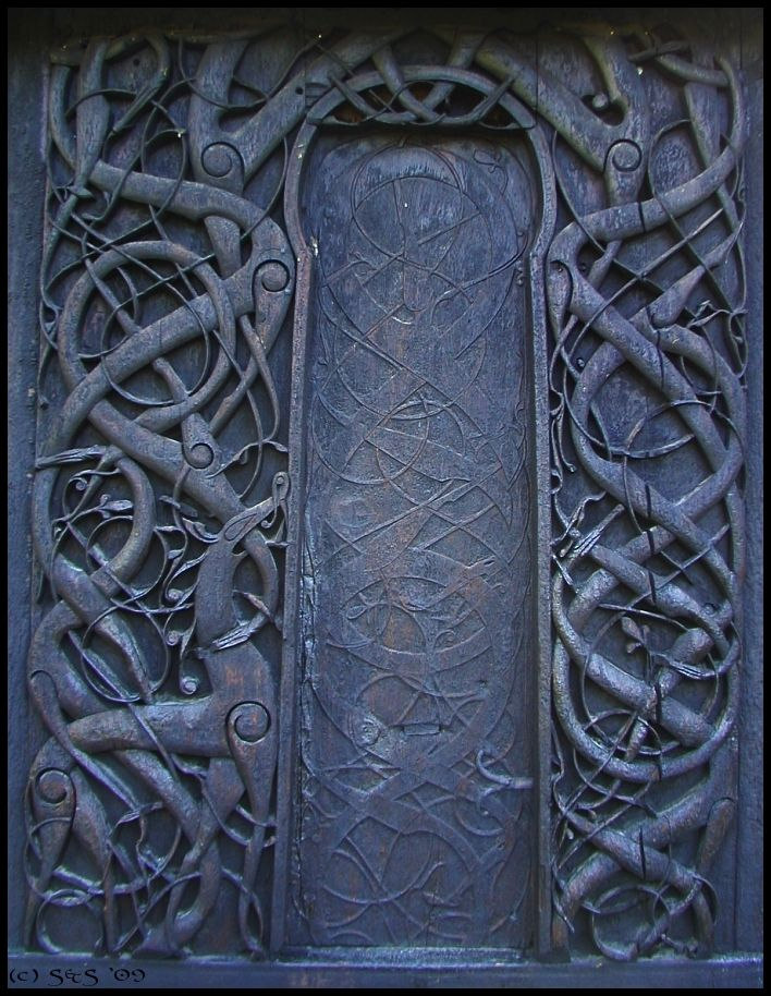 Urnes Knotwork Carved Around AD On The Outer Wall Once A - Urnes norway map