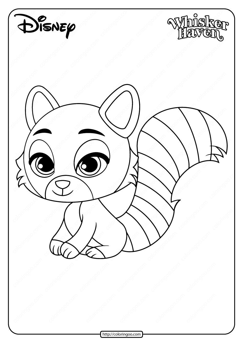 Printable Palace Pets Chai Pdf Coloring Page In 2020 Coloring Pages Panda Coloring Pages Palace Pets