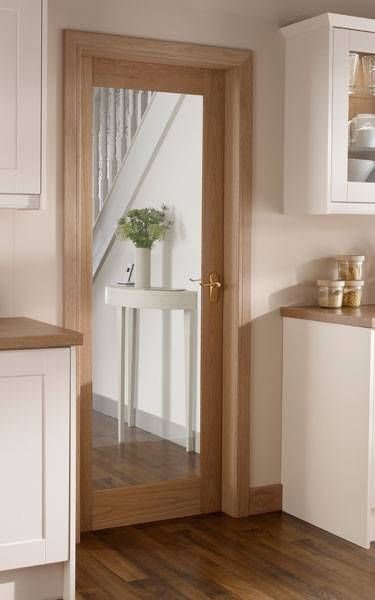 Kitchen Interior Doors | Burford Single Panel Oak Glazed Howdens Joinery Love The Floor
