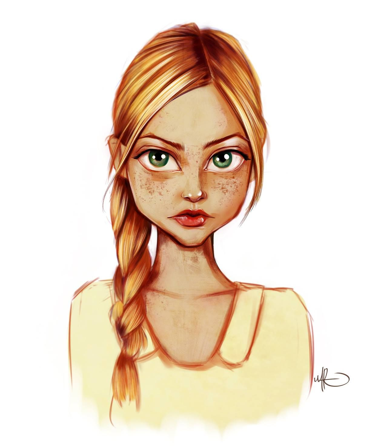 Girl sketch color by MARIO CALVA