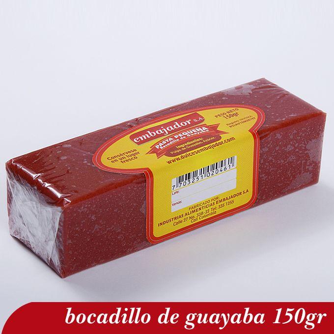 Bocadillo De Guayaba En Bloque Pequeño 150gr Bocadillo Guayaba Gum Food Ceramics