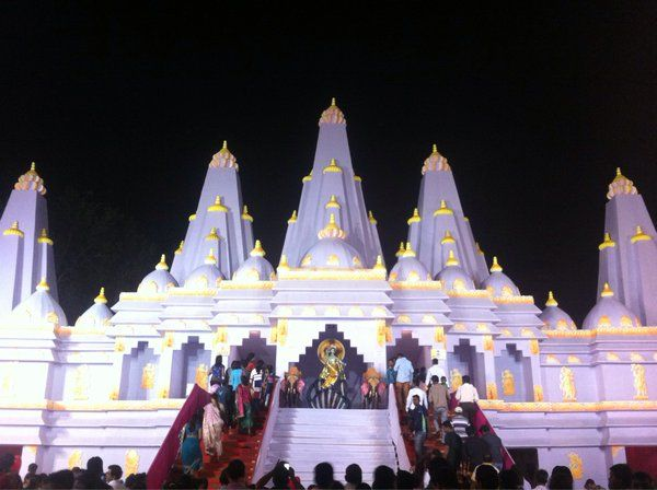After howrah now a durga puja pandal in durgapur west bengal after howrah now a durga puja pandal in durgapur west bengal resembling the architecture of temple of vedic planetarium pinterest durga puja and west thecheapjerseys Images