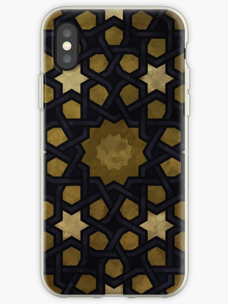 Islamic Decorative Pattern With Golden Artistic Texture Iphone