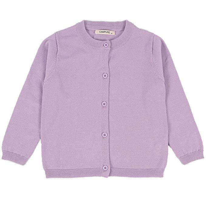 OshKosh B/'Gosh Little Girls Pink Knit Cardigan Button Sweater