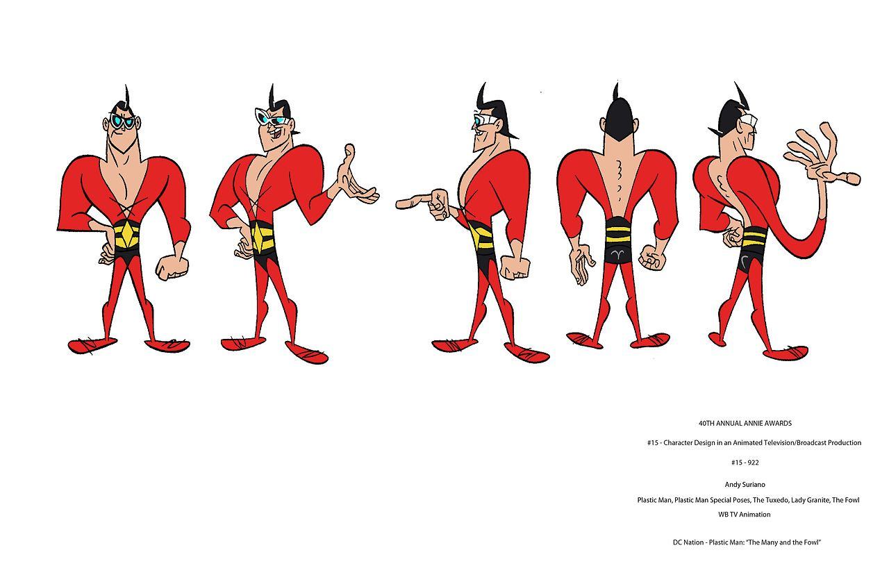 Plastic Man (DC Nation) - Character Sheet | Character Design