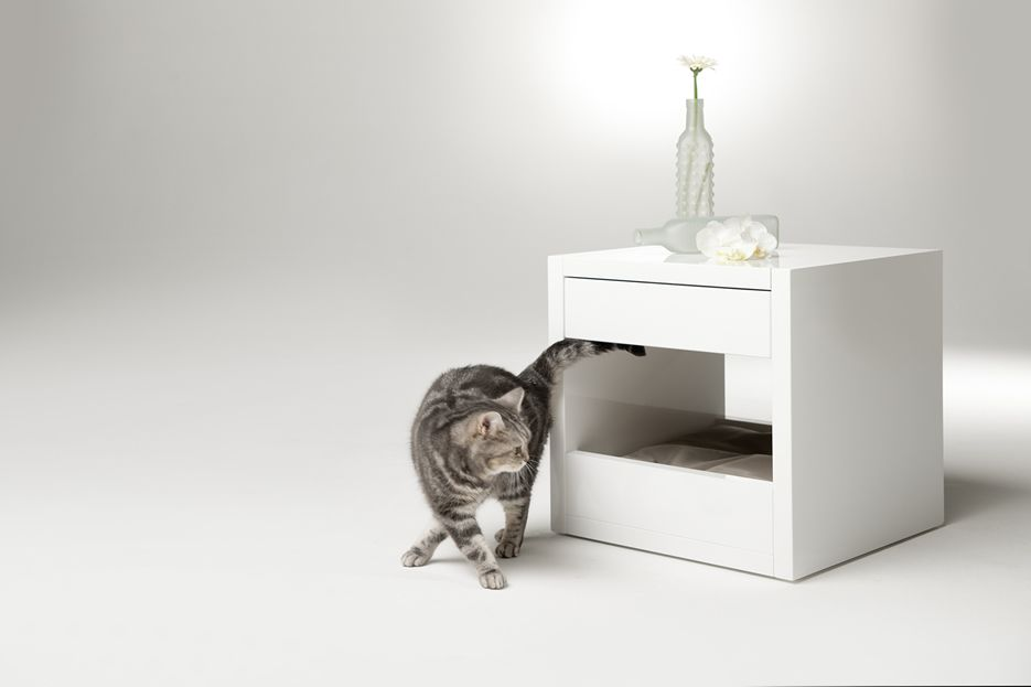 Cat Bed Side Table: The Bloq by Binq Design | Cat Furniture ... House Designs For Cats Html on designs for outdoor cat enclosures, designs for chicken coops, designs for dog runs,