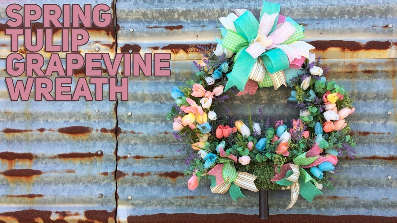 Photo of How To Make A Spring Grapevine Wreath With Tulips – DIY Decor – Spring 2020