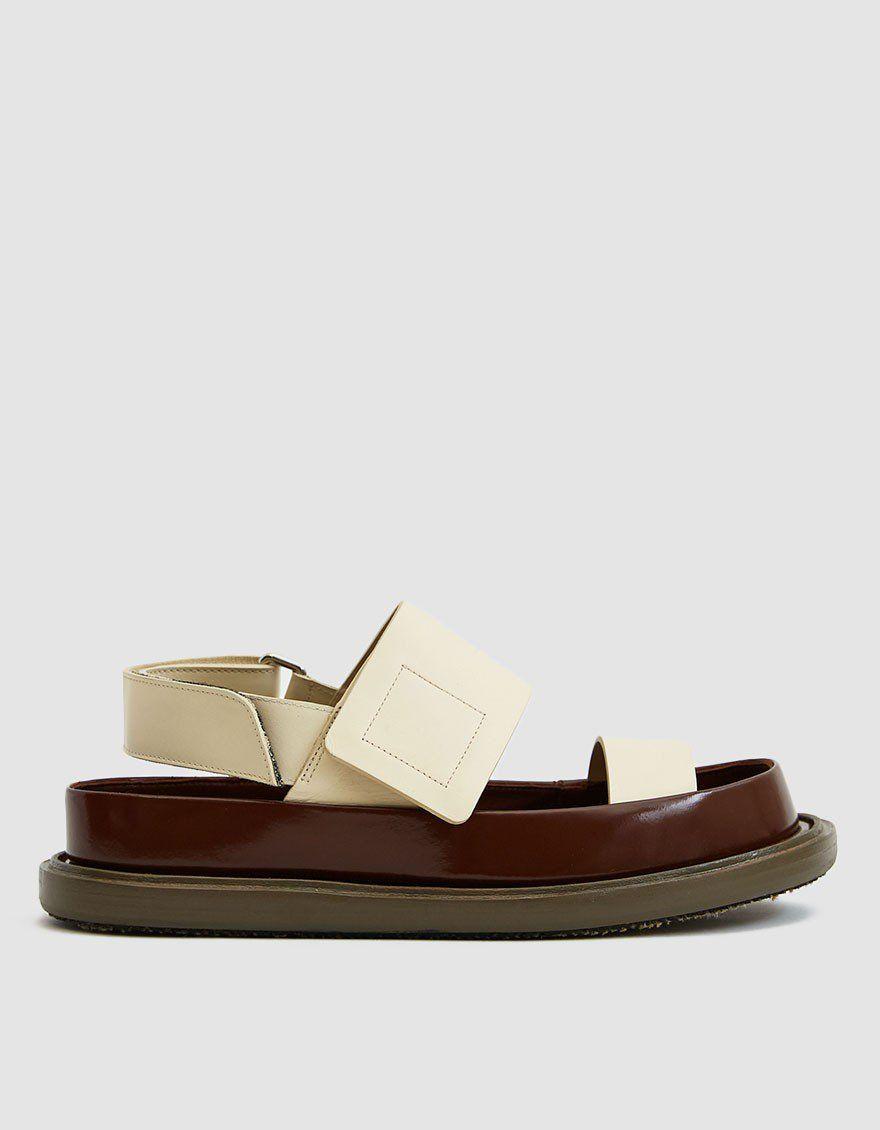 Marni / Platform Fussbett Sandal in