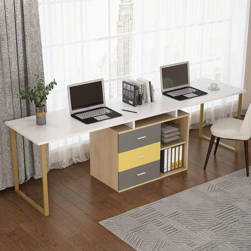 Bedfo Reversible L Shape Credenza Desk
