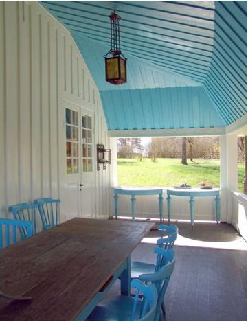 Cool porch colours