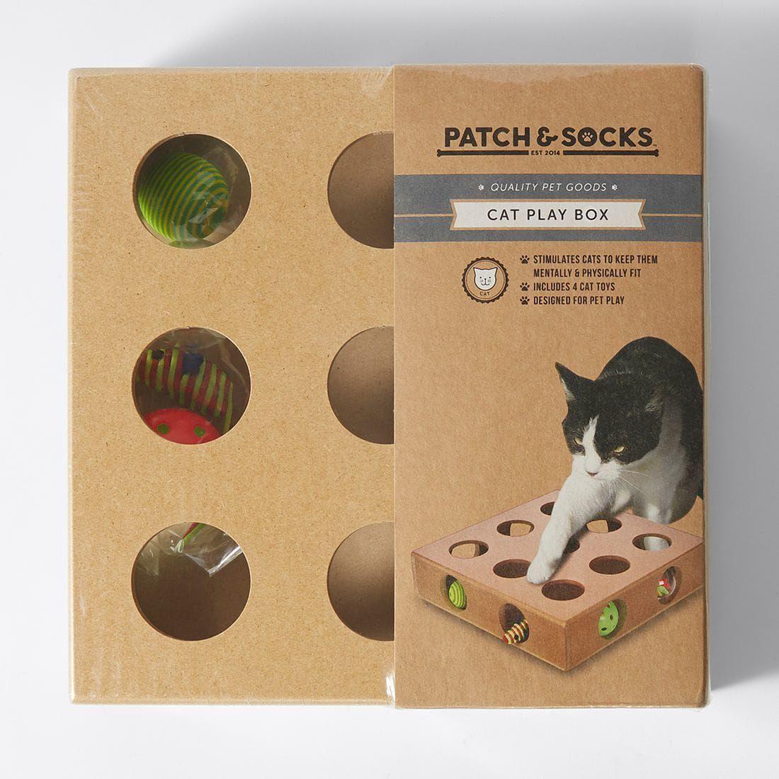 Patch Socks Cat Play Box Cat Playing Cat Socks Cat Toys
