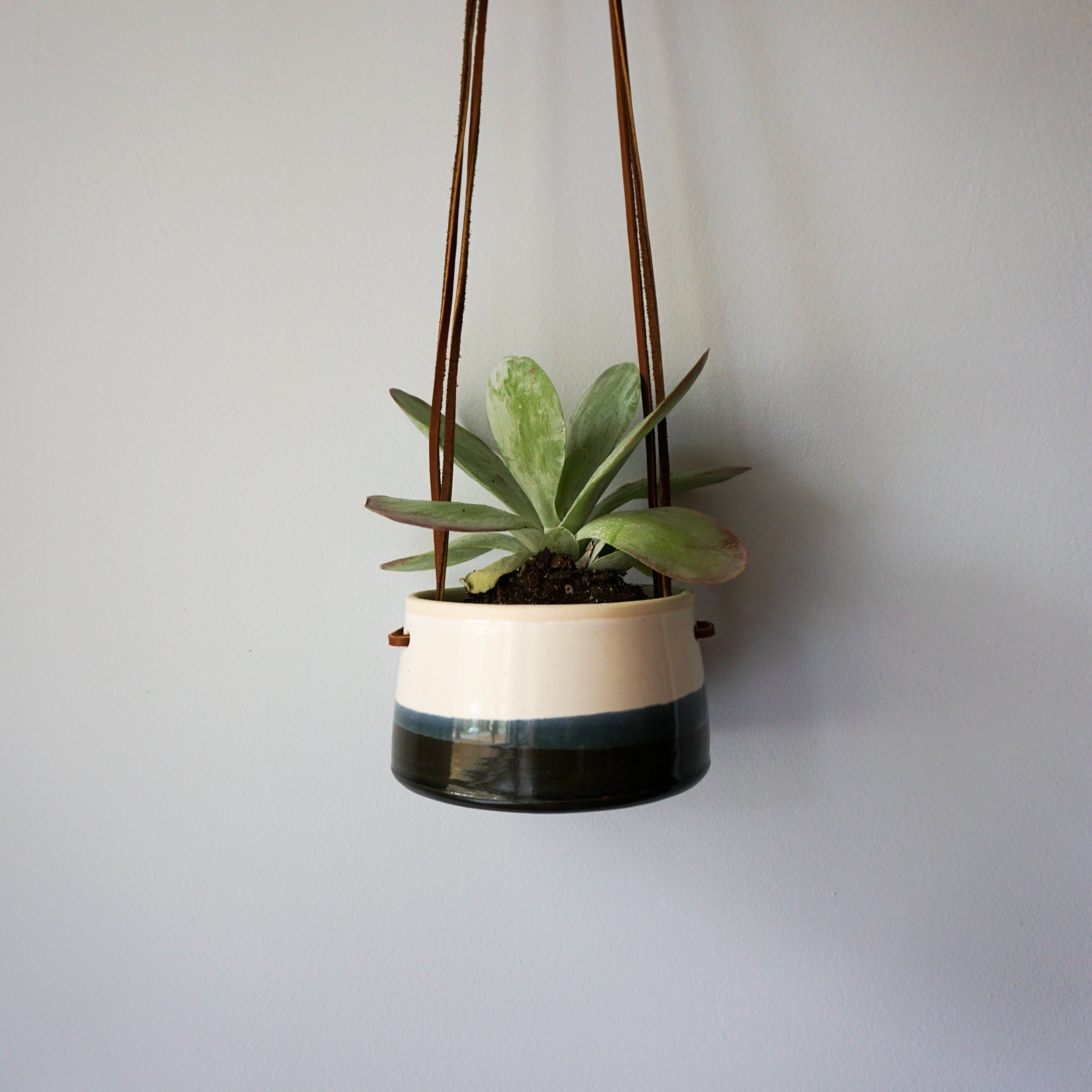 Hanging Planter in Black and White | Products | Hanging ...