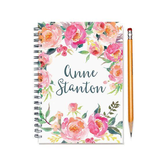 2017 Month Planner Personalized Calendar Notebook Or Journal Watercolor Fl Design 12 24 Sku Pn