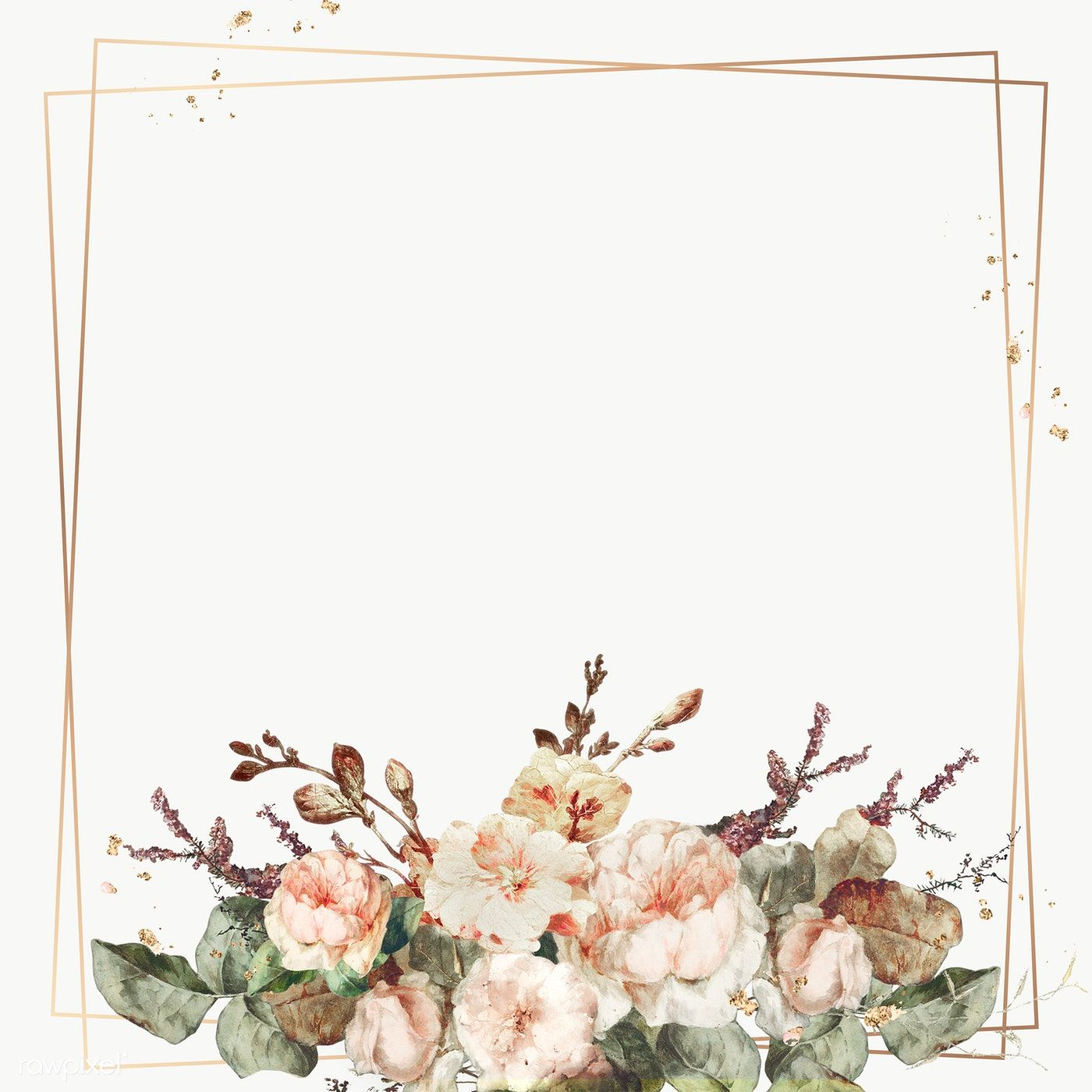 Download Premium Png Of Vintage Floral Frame Illustration Transparent Png In 2020 Flower Illustration Vintage Floral Backgrounds Flower Frame