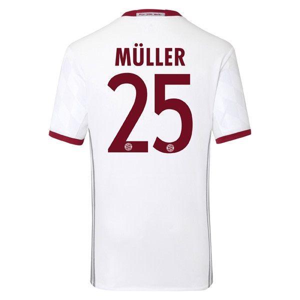 Bayern Munchen 2016/17 3RD Away Men Soccer Jersey MULLER #25