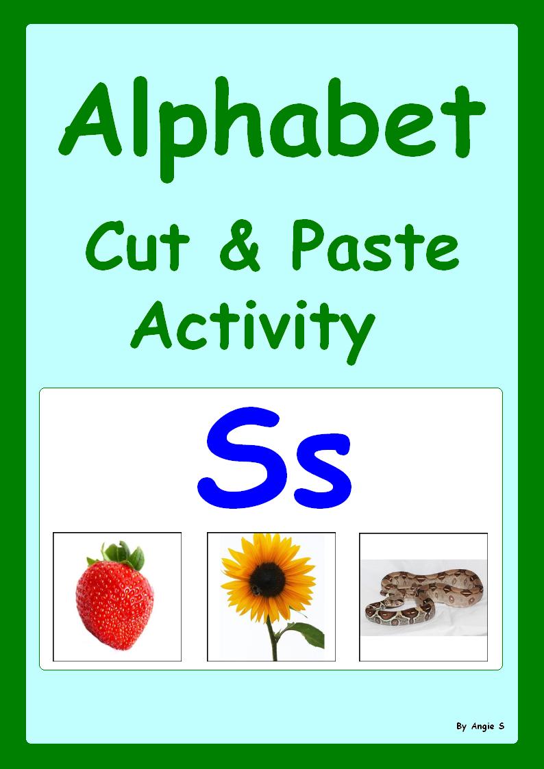 BTSwishlist Alphabet Activity, Alphabet Cut and Paste Worksheets ...