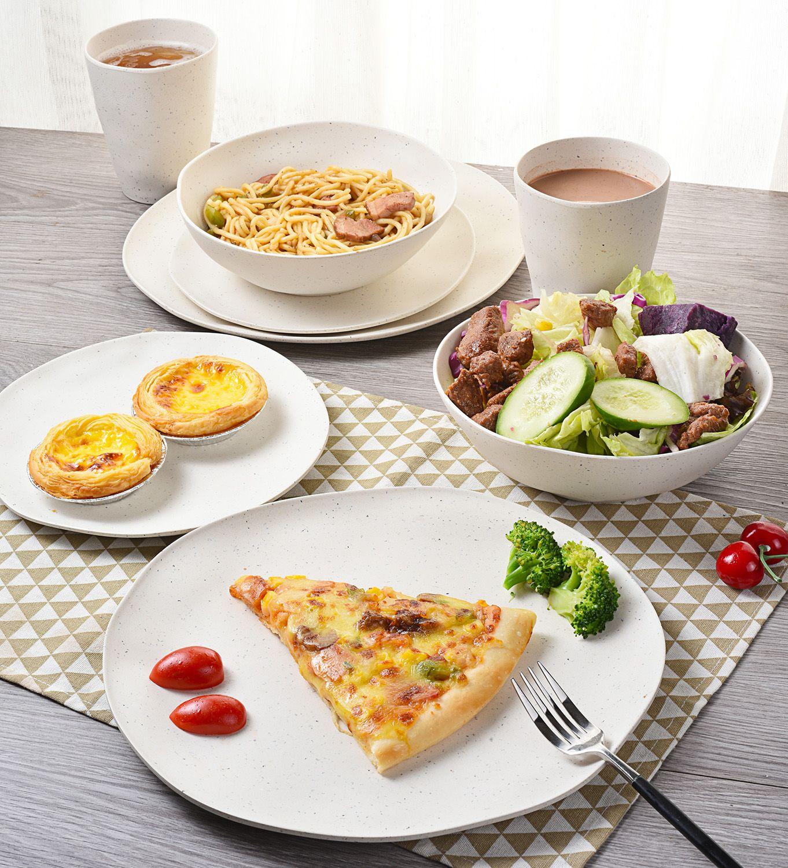 Morgiana Bamboo Tableware Set White Camping Dinner Set In 2020 Bamboo Tableware Tableware Set Dinner Sets