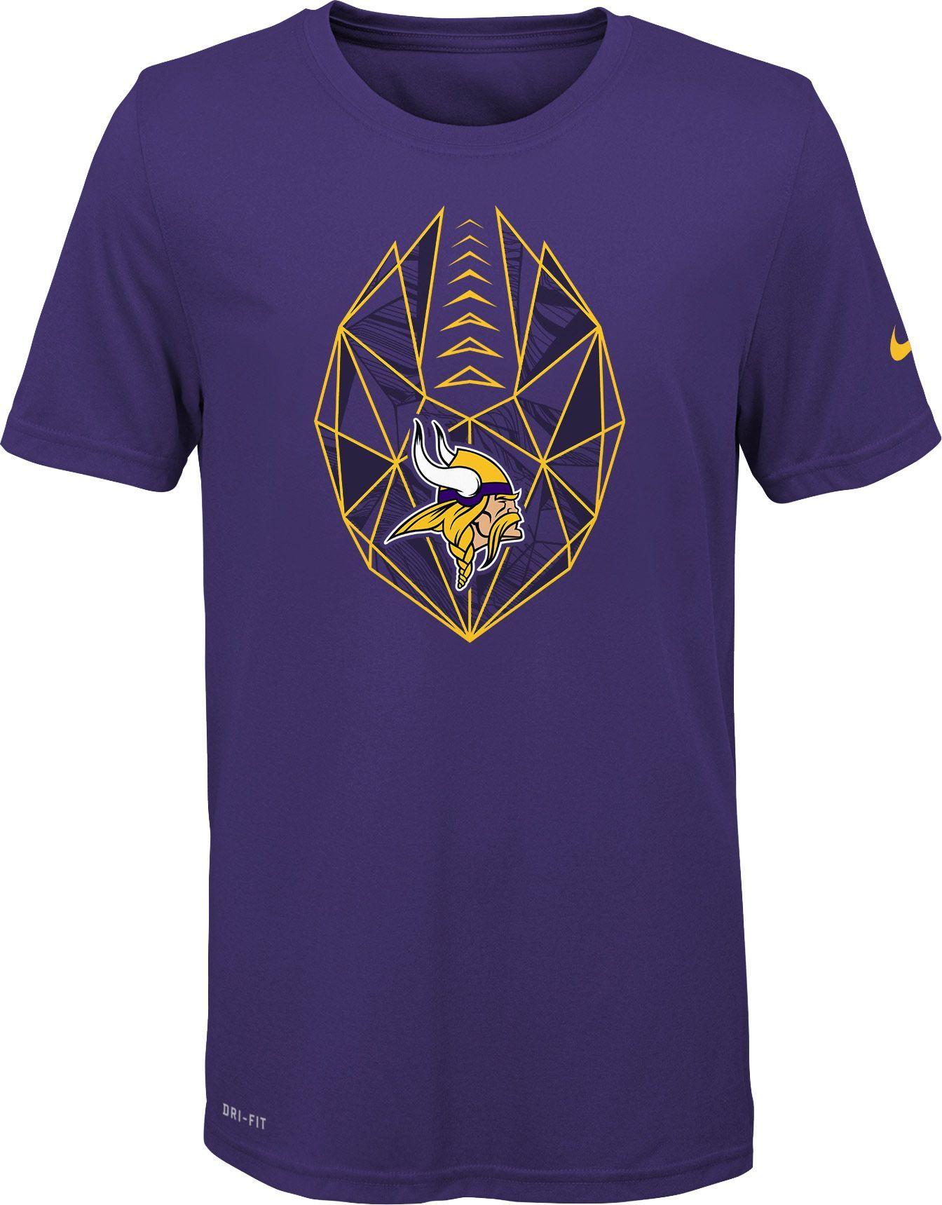 fba3b5194 Nike Youth Minnesota Icon Performance Purple T-Shirt