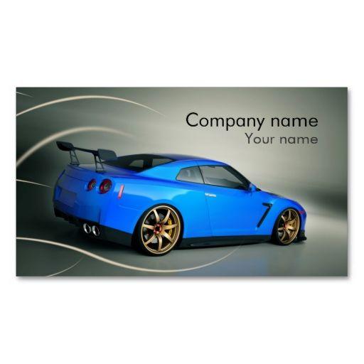 Stylish automotive business card   Zazzle.com