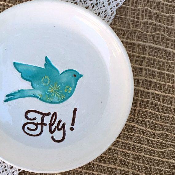 Inspirational Ceramic Dish - Graduation Gift, Encouragement Gift, Home Decor