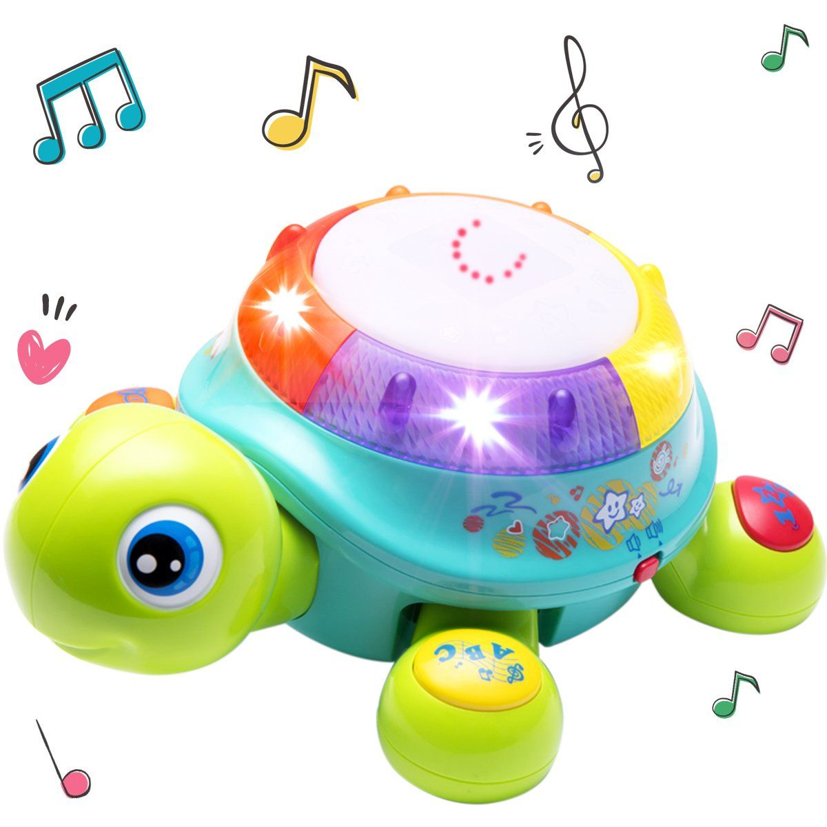 Musical Turtle Toy Baby Musical Toys Electronic Toys Learning Spanish