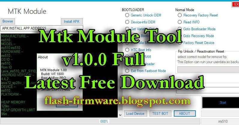 Mtk Module Tool V1 0 0 Full Latest Free Download Windows