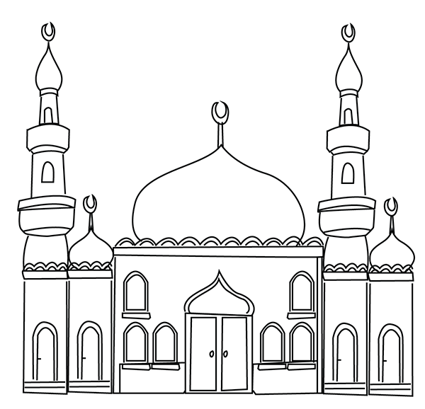 ramadan colouring pages mosque colouring page ramadan printable