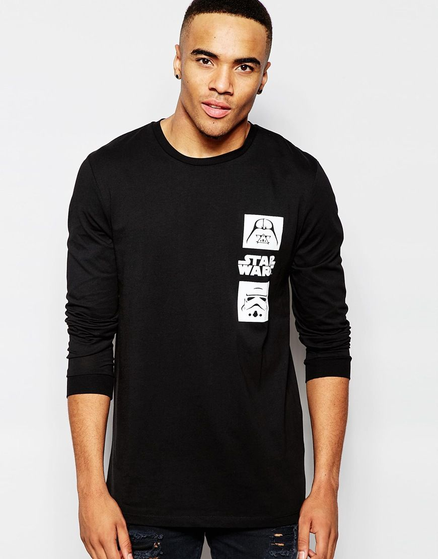 ASOS+Relaxed+Longline+Long+Sleeve+T-Shirt+With+