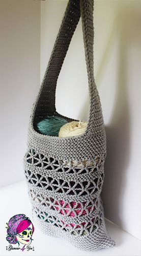 Ravelry: Starlet Market Bag pattern by Glamour4You...free crochet ...
