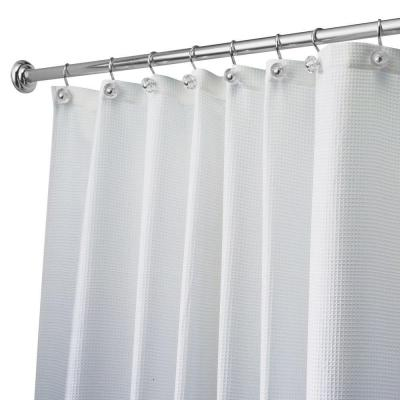 84 Inch Curtain I Dont Hate InterDesign Carlton Long Shower In White 22980 At The Home Depot