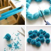 Making bobble pompons yourself making Easter  DIY  Bommel Pompon Making bobble pompons yourself making Easter  DIY  Bommel Pompon