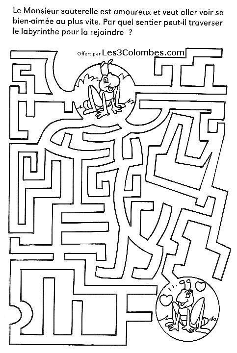 Labyrinthe enfants 32 atelier labyrinthe pinterest - Jeux labyrinthe a imprimer ...